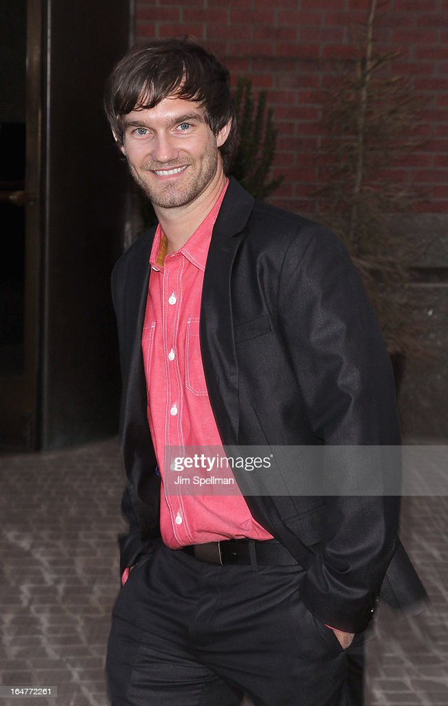 Actor Lee Hardee attends The Cinema Society & Jaeger-LeCoultre screening of Open Road Films' 'The Host' at Tribeca Grand Hotel on March 27, 2013 in New York City.