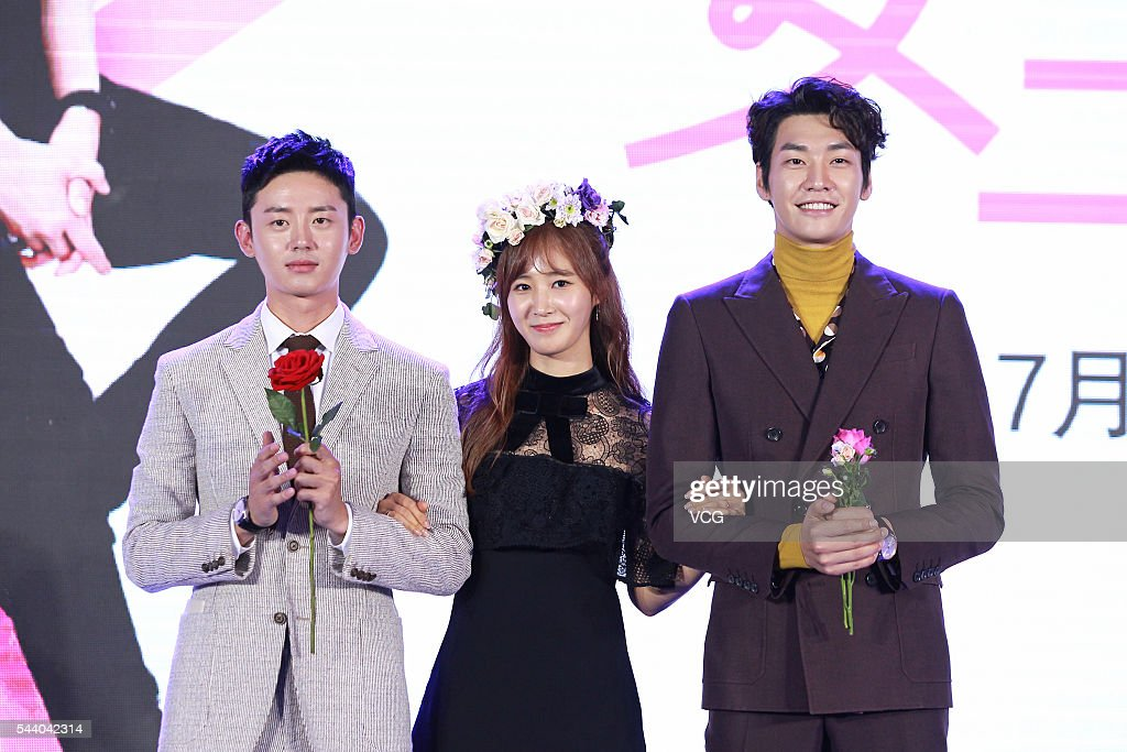 Actor Lee JiHoon actress Kwon YuRi of South Korean girl group Girls' Generation and actor Kim Young Kwang attend web drama 'Gogh The Starry Night'...
