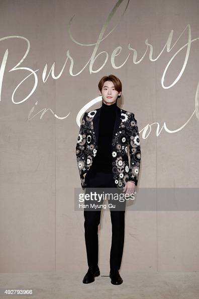 Actor Lee Jong Suk attends the Burberry Seoul Flagship Store Opening Event on October 15 2015 in Seoul South Korea