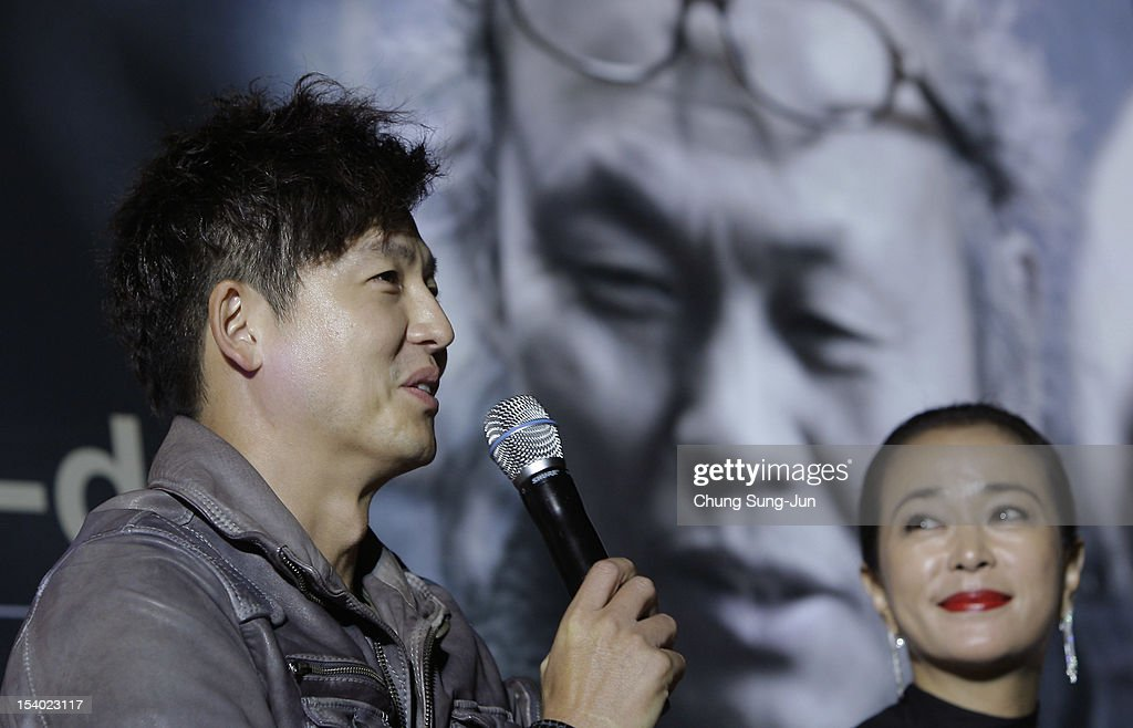 Actor Lee Jung-Jin and actress Cho Min-Soo attend Open Talk during the 17th Busan International Film Festival (BIFF) at Haeundae beach on October 12, 2012 in Busan, South Korea. The biggest film festival in Asia showcases 304 films from 75 countries and runs from October 4-13.