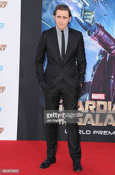 Actor Lee Pace arrives at the Los Angeles Premiere 'Guardians Of The Galaxy' at the El Capitan Theatre on July 21 2014 in Hollywood California