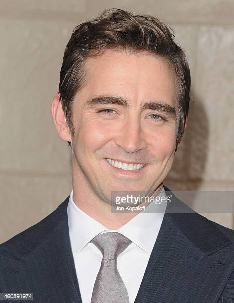 Actor Lee Pace arrives at the Los Angeles Premiere 'The Hobbit The Battle Of The Five Armies' at Dolby Theatre on December 9 2014 in Hollywood...