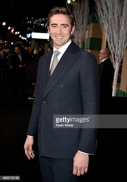 Actor Lee Pace attends the premiere of New Line Cinema MGM Pictures and Warner Bros Pictures' 'The Hobbit The Battle of the Five Armies' at Dolby...