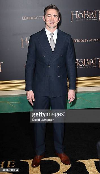 Actor Lee Pace attends the premiere of New Line Cinema MGM Pictures and Warner Bros Pictures' 'The Hobbit The Battle of the Five Armies' at the Dolby...
