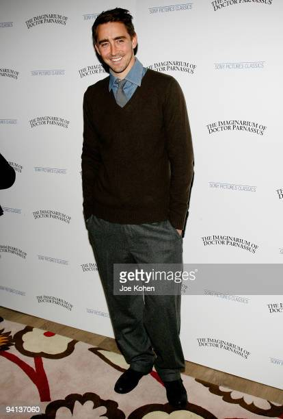 Actor Lee Pace attends the premiere of 'The Imaginarium of Doctor Parnassus' at the Crosby Street Hotel on December 7 2009 in New York City