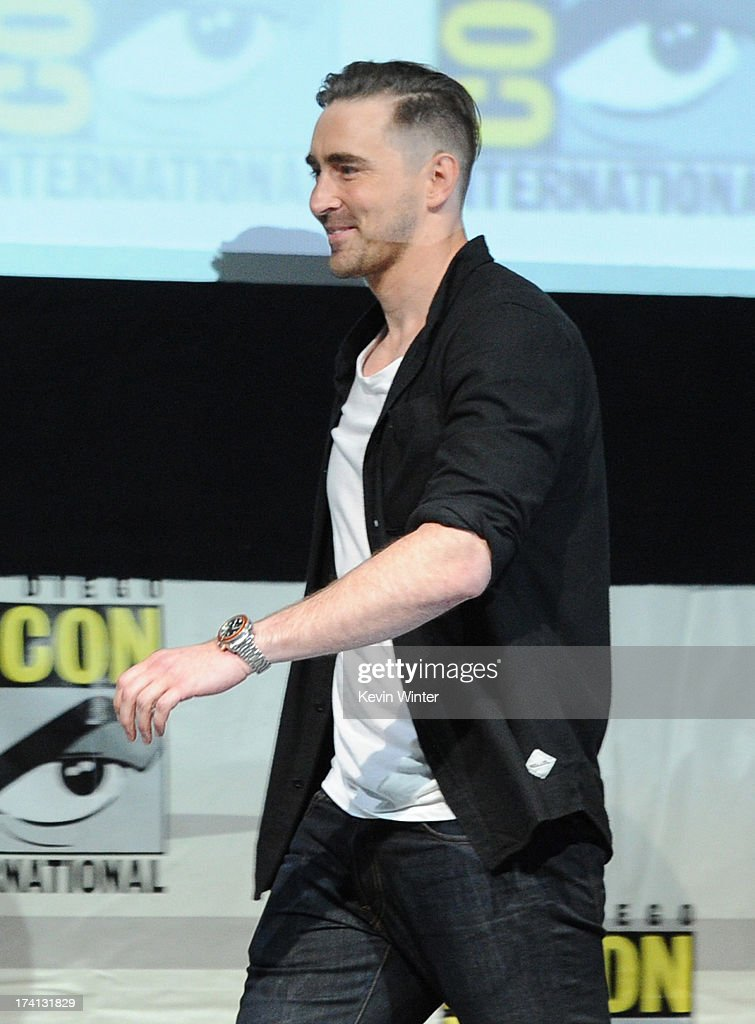 Actor Lee Pace speaks onstage at Marvel Studios 'Guardians of the Galaxy' during Comic-Con International 2013 at San Diego Convention Center on July 20, 2013 in San Diego, California.