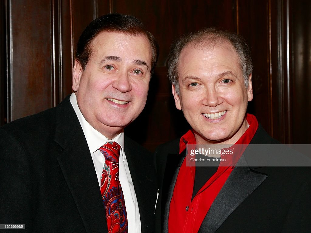 Actor Lee Roy Reams and playwright/actor <a gi-track='captionPersonalityLinkClicked' href=/galleries/search?phrase=Charles+Busch&family=editorial&specificpeople=227410 ng-click='$event.stopPropagation()'>Charles Busch</a> attend the 10th Annual Love 'N' Courage Benefit For TNC's Emerging Playwrights Program at The National Arts Club on February 25, 2013 in New York City.