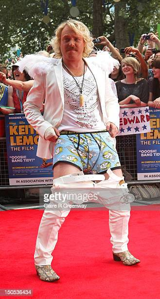 Actor Leigh Francis attends the world premiere of 'Keith Lemon The Film' at Odeon West End on August 20 2012 in London England
