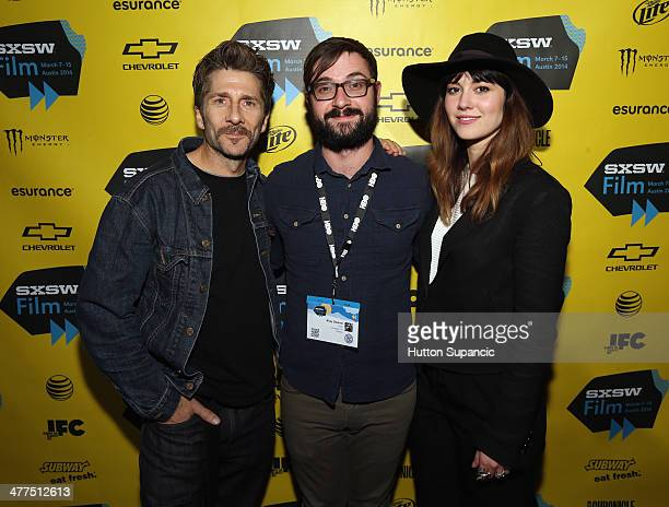Actor Leland Orser writer/director Riley Stearns and actress/producer Mary Elizabeth Winstead attend the 'Faults' Photo Op and QA during the 2014...