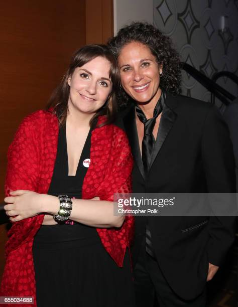 Actor Lena Dunham and comedian Dana Goldberg at The Human Rights Campaign 2017 Los Angeles Gala Dinner at JW Marriott Los Angeles at LA LIVE on March...