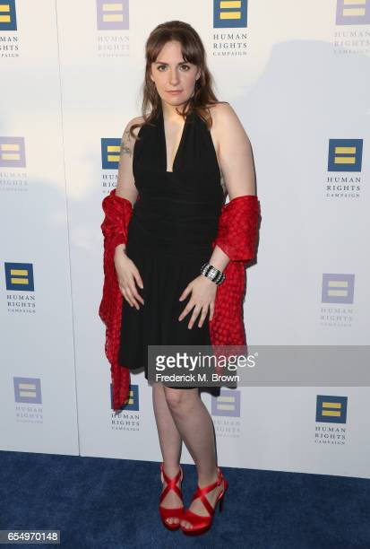 Actor Lena Dunham at The Human Rights Campaign 2017 Los Angeles Gala Dinner at JW Marriott Los Angeles at LA LIVE on March 18 2017 in Los Angeles...