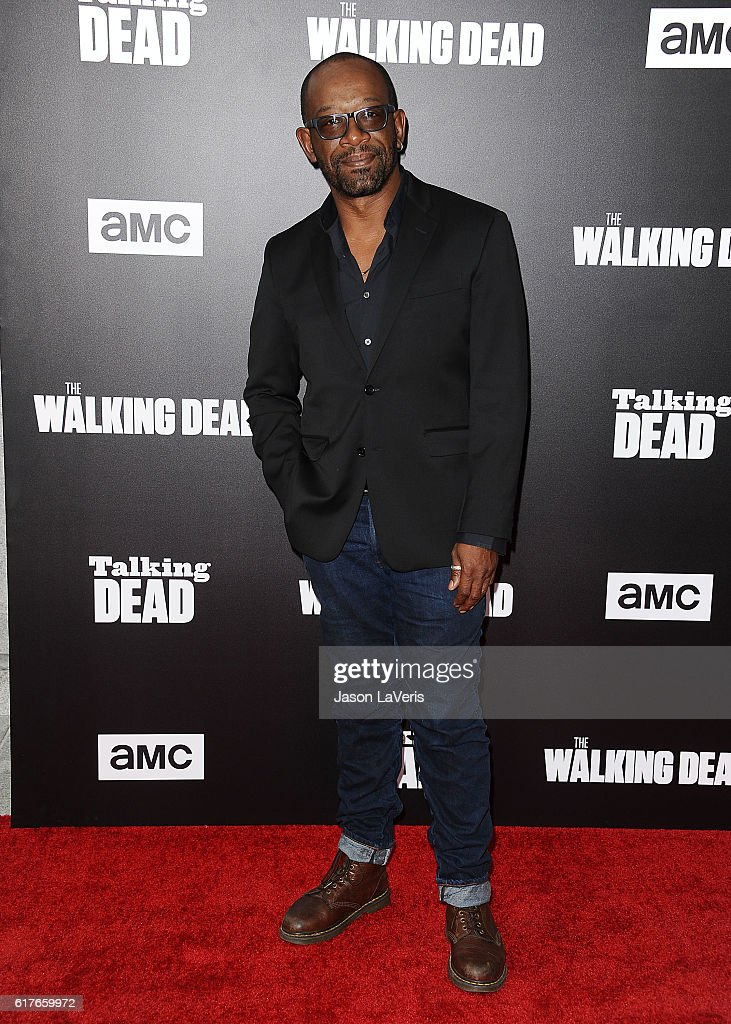 Actor Lennie James attends the live, 90-minute special edition of 'Talking Dead' at Hollywood Forever on October 23, 2016 in Hollywood, California.