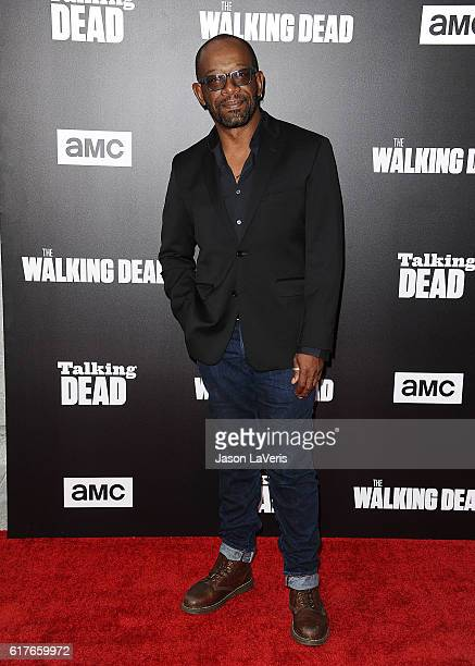 Actor Lennie James attends the live 90minute special edition of 'Talking Dead' at Hollywood Forever on October 23 2016 in Hollywood California