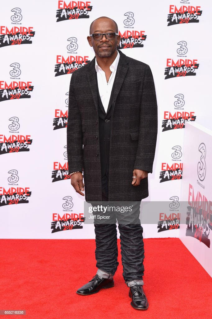 Actor Lennie James attends the THREE Empire awards at The Roundhouse on March 19, 2017 in London, England.