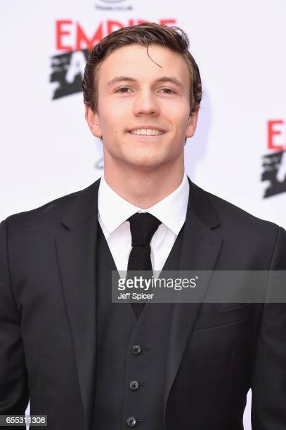 Actor Leo Suter attends the THREE Empire awards at The Roundhouse on March 19 2017 in London England