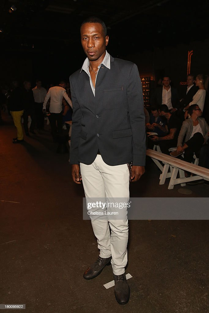 Actor Leon Robinson attends the Ricardo Seco fashion show during Mercedes-Benz Fashion Week Spring 2014 at Eyebeam Studio on September 8, 2013 in New York City.