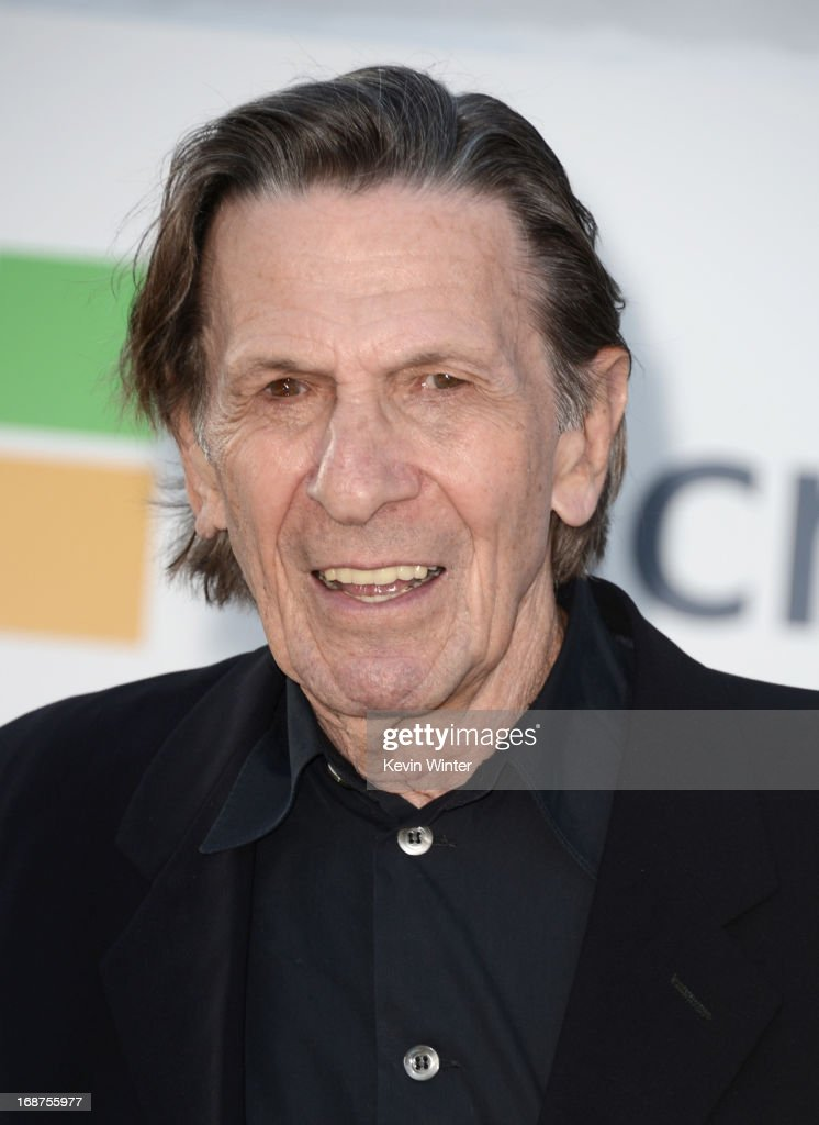 Actor <a gi-track='captionPersonalityLinkClicked' href=/galleries/search?phrase=Leonard+Nimoy&family=editorial&specificpeople=216431 ng-click='$event.stopPropagation()'>Leonard Nimoy</a> arrives at the Premiere of Paramount Pictures' 'Star Trek Into Darkness' at Dolby Theatre on May 14, 2013 in Hollywood, California.