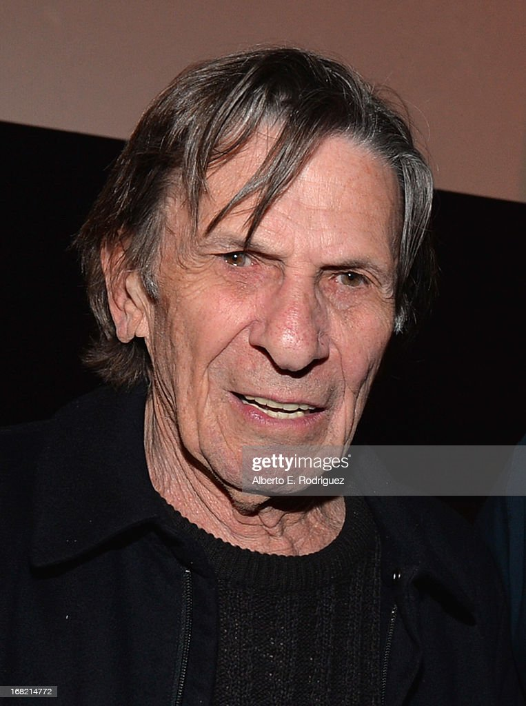 Actor <a gi-track='captionPersonalityLinkClicked' href=/galleries/search?phrase=Leonard+Nimoy&family=editorial&specificpeople=216431 ng-click='$event.stopPropagation()'>Leonard Nimoy</a> attends Entertainment Weekly's CapeTown Film Festival presented by The American Cinematheque and sponsored by TNT's 'Falling Skies' at the Egyptian Theatre on May 6, 2013 in Hollywood, California.