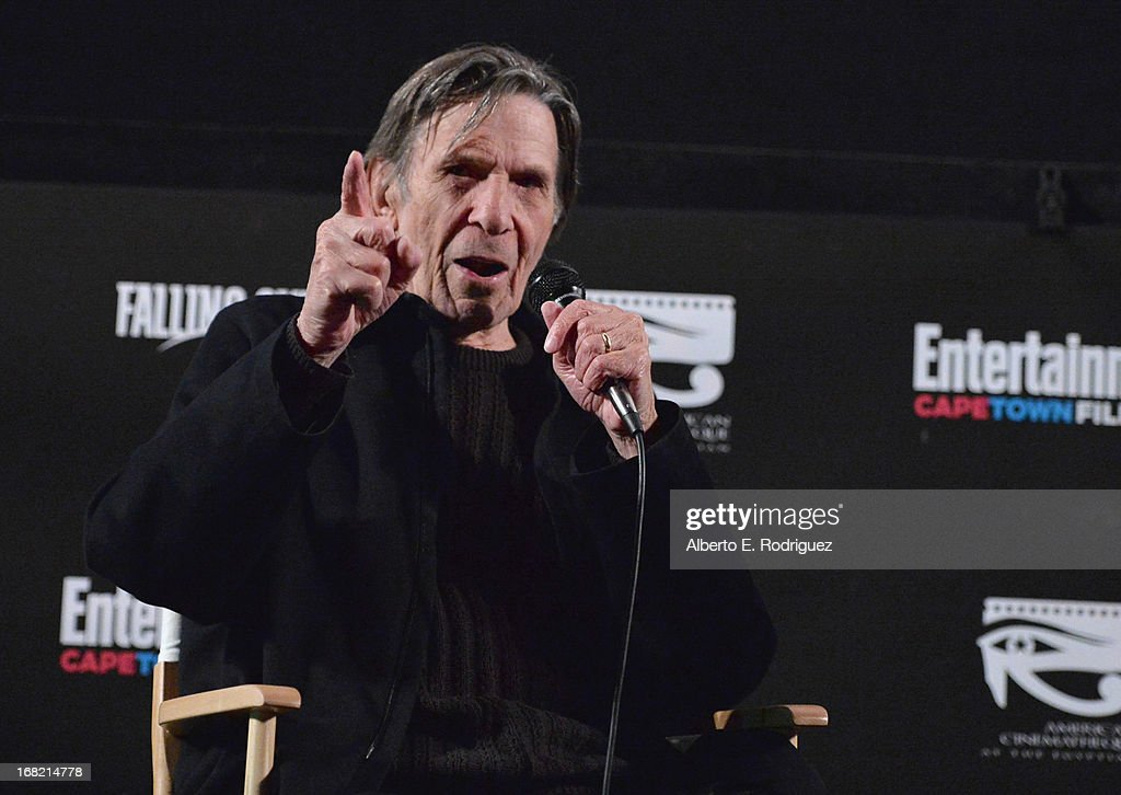 Actor Leonard Nimoy attends Entertainment Weekly's CapeTown Film Festival presented by The American Cinematheque and sponsored by TNT's 'Falling...