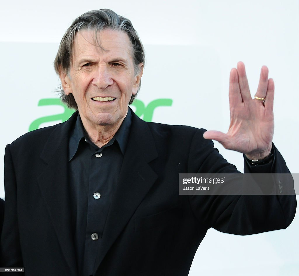 Actor <a gi-track='captionPersonalityLinkClicked' href=/galleries/search?phrase=Leonard+Nimoy&family=editorial&specificpeople=216431 ng-click='$event.stopPropagation()'>Leonard Nimoy</a> attends the premiere of 'Star Trek Into Darkness' at Dolby Theatre on May 14, 2013 in Hollywood, California.