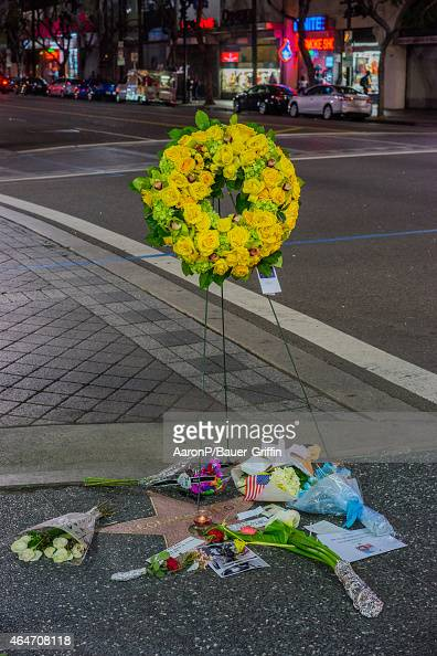 Actor Leonard Nimoy is remembered on the Hollywood Walk of Fame on February 27 2015 in Hollywood California