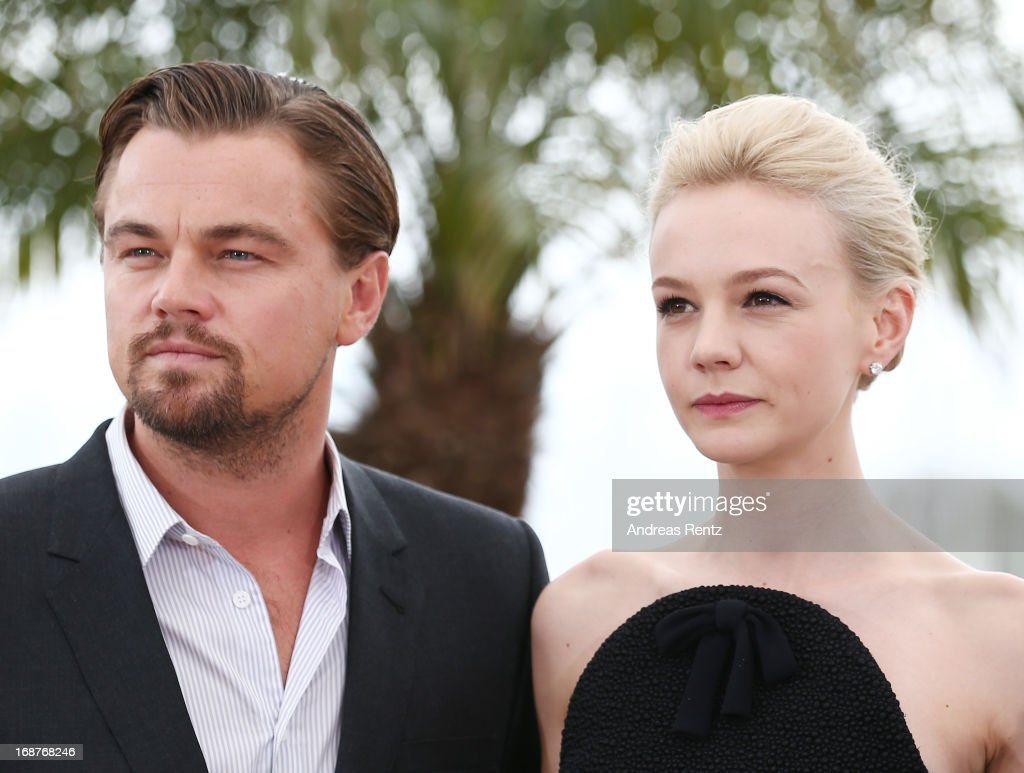 Actor <a gi-track='captionPersonalityLinkClicked' href=/galleries/search?phrase=Leonardo+DiCaprio&family=editorial&specificpeople=201635 ng-click='$event.stopPropagation()'>Leonardo DiCaprio</a> and actress <a gi-track='captionPersonalityLinkClicked' href=/galleries/search?phrase=Carey+Mulligan&family=editorial&specificpeople=2262681 ng-click='$event.stopPropagation()'>Carey Mulligan</a> attend 'The Great Gatsby' photocall during the 66th Annual Cannes Film Festival at the Palais des Festivals on May 15, 2013 in Cannes, France.