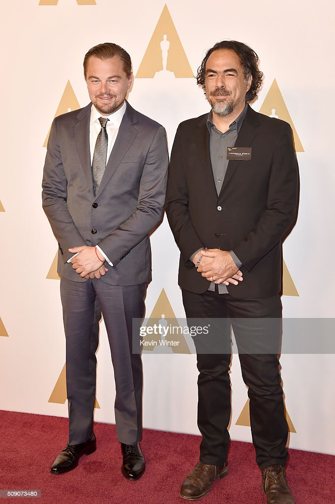 Actor Leonardo DiCaprio and director Alejandro Gonzalez Inarritu attend the 88th Annual Academy Awards nominee luncheon on February 8 2016 in Beverly...