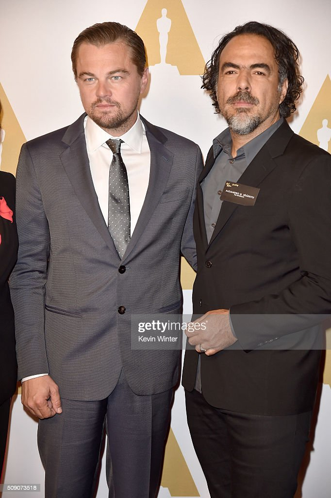 Actor <a gi-track='captionPersonalityLinkClicked' href=/galleries/search?phrase=Leonardo+DiCaprio&family=editorial&specificpeople=201635 ng-click='$event.stopPropagation()'>Leonardo DiCaprio</a> (L) and director Alejandro Gonzalez Inarritu attend the 88th Annual Academy Awards nominee luncheon on February 8, 2016 in Beverly Hills, California.