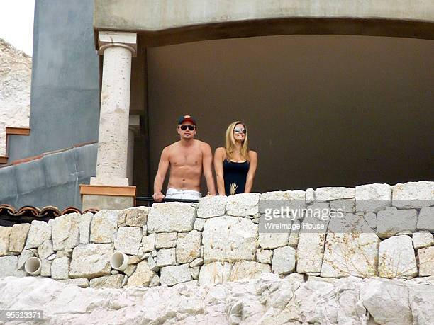 Actor Leonardo DiCaprio and Israeli supermodel Bar Refaeli enjoy their seaside view January 1 2010 in Cabo San Lucas Mexico