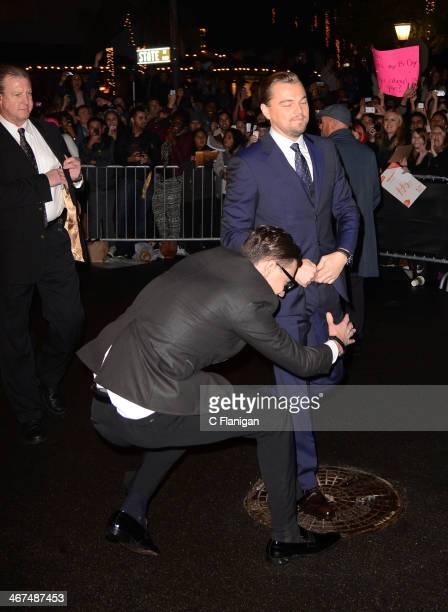 Actor Leonardo DiCaprio and Ukrainian journalist and prankster Vitalii Sediuk at the 29th Santa Barbara International Film Festival 'Cinema Vanguard'...