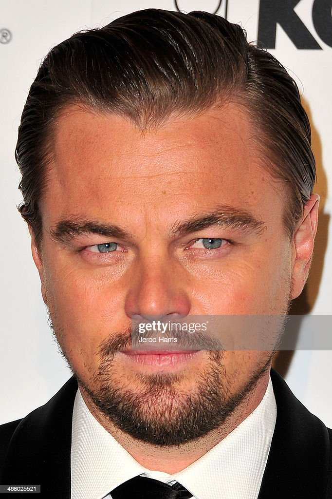 Actor Leonardo Dicaprio arrives at the 18th Annual Art Directors Guild Excellence in Production Design Awards at The Beverly Hilton Hotel on February 8, 2014 in Beverly Hills, California.