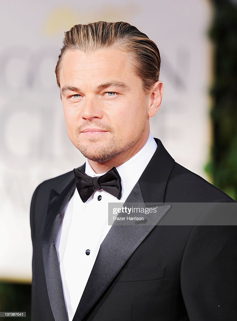 Actor Leonardo DiCaprio arrives at the 69th Annual Golden Globe Awards held at the Beverly Hilton Hotel on January 15 2012 in Beverly Hills California