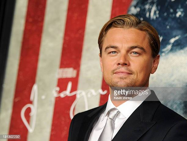 Actor Leonardo DiCaprio arrives at the 'J Edgar' opening night gala during AFI FEST 2011 presented by Audi held at Grauman's Chinese Theatre on...