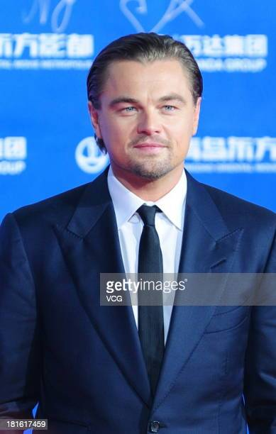Actor Leonardo DiCaprio arrives on the red carpet during the opening night of the Qingdao Oriental Movie Metropolis at Qingdao Beer City on September...