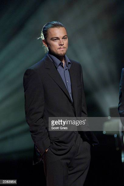 Actor Leonardo Dicaprio at The Concert for New York City to benefit the victims of the World Trade Center disaster at Madison Square Garden in New...