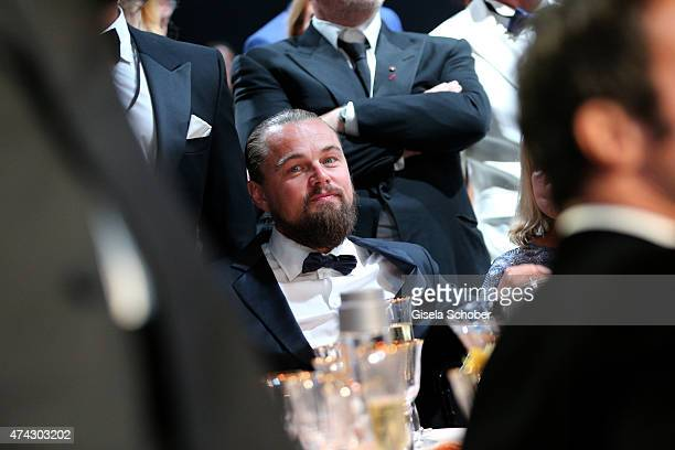 Actor Leonardo DiCaprio attends amfAR's 22nd Cinema Against AIDS Gala Presented By Bold Films And Harry Winston at Hotel du CapEdenRoc on May 21 2015...