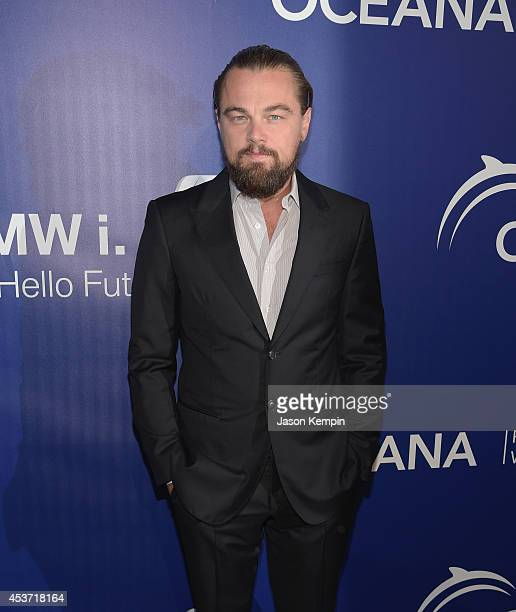 Actor Leonardo DiCaprio attends Oceana's Annual SeaChange Summer Party on August 16 2014 in Laguna Beach California