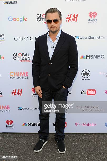 Actor Leonardo DiCaprio attends the 2015 Global Citizen Festival to end extreme poverty by 2030 in Central Park on September 26 2015 in New York City