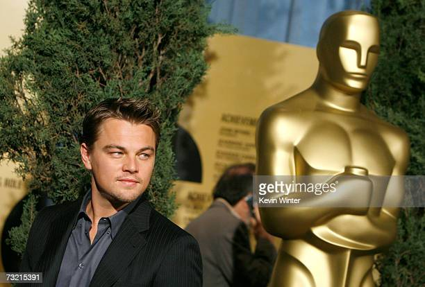 Actor Leonardo DiCaprio attends the 79th annual Academy Award nominees luncheon held at the Beverly Hilton Hotel on February 5 2007 in Beverly Hills...
