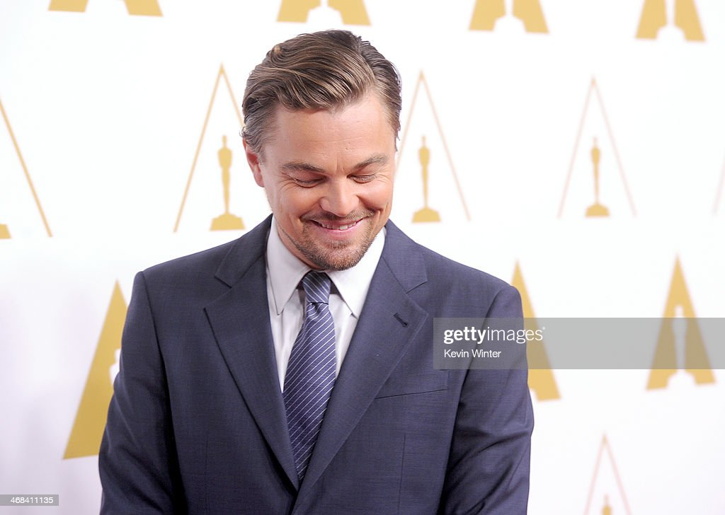 Actor Leonardo DiCaprio attends the 86th Academy Awards nominee luncheon at The Beverly Hilton Hotel on February 10, 2014 in Beverly Hills, California.
