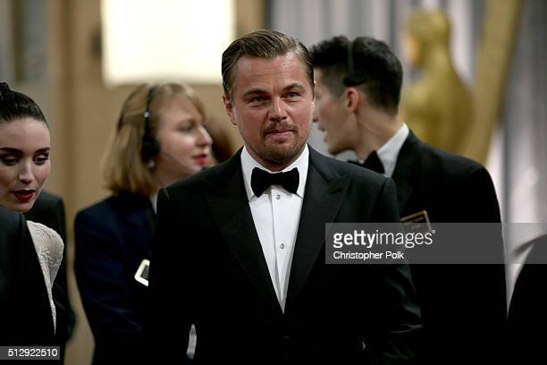 Actor Leonardo DiCaprio attends the 88th Annual Academy Awards at Hollywood Highland Center on February 28 2016 in Hollywood California