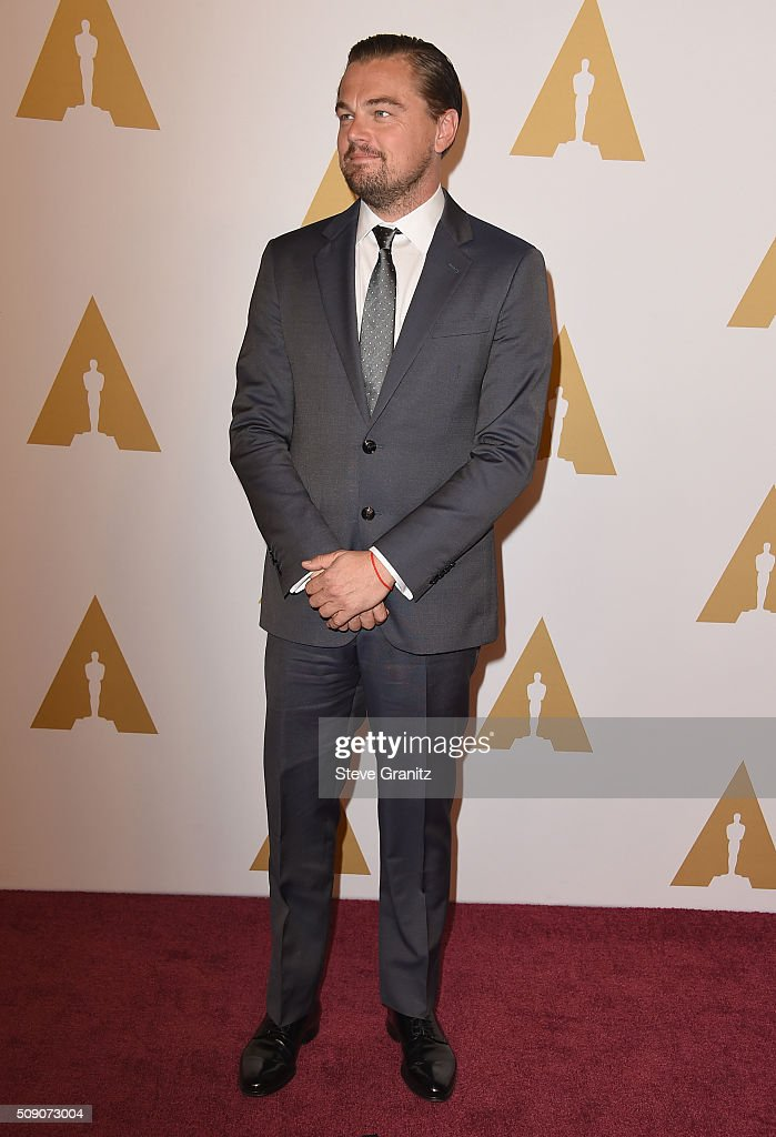 Actor <a gi-track='captionPersonalityLinkClicked' href=/galleries/search?phrase=Leonardo+DiCaprio&family=editorial&specificpeople=201635 ng-click='$event.stopPropagation()'>Leonardo DiCaprio</a> attends the 88th Annual Academy Awards nominee luncheon on February 8, 2016 in Beverly Hills, California.