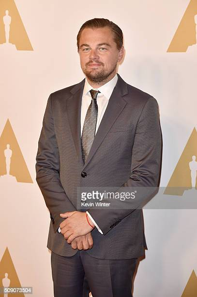 Actor Leonardo DiCaprio attends the 88th Annual Academy Awards nominee luncheon on February 8 2016 in Beverly Hills California