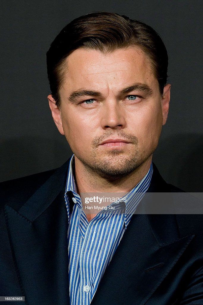 Actor Leonardo DiCaprio attends the 'Django Unchained' Press Conference at the Ritz Carlton Hotel on March 7, 2013 in Seoul, South Korea. Leonardo DiCaprio is visiting South Korea to promote his recent film 'Django Unchained' which will be released on March 21 in South Korea.