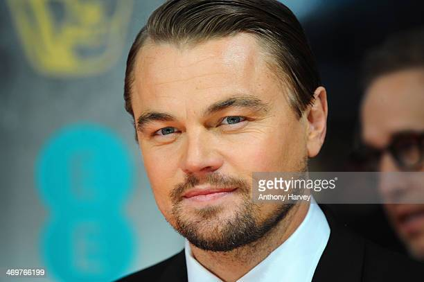 Actor Leonardo DiCaprio attends the EE British Academy Film Awards 2014 at The Royal Opera House on February 16 2014 in London England