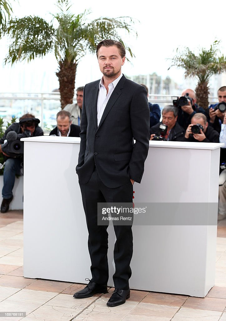 Actor <a gi-track='captionPersonalityLinkClicked' href=/galleries/search?phrase=Leonardo+DiCaprio&family=editorial&specificpeople=201635 ng-click='$event.stopPropagation()'>Leonardo DiCaprio</a> attends 'The Great Gatsby' photocall during the 66th Annual Cannes Film Festival at the Palais des Festivals on May 15, 2013 in Cannes, France.