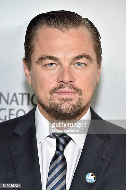 Actor Leonardo DiCaprio attends the National Geographic Channel 'Before the Flood' screening at United Nations Headquarters on October 20 2016 in New...