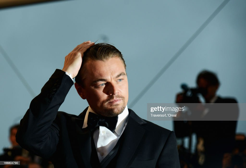 Actor <a gi-track='captionPersonalityLinkClicked' href=/galleries/search?phrase=Leonardo+DiCaprio&family=editorial&specificpeople=201635 ng-click='$event.stopPropagation()'>Leonardo DiCaprio</a> attends the Opening Ceremony and 'The Great Gatsby' Premiere during the 66th Annual Cannes Film Festival at the Theatre Lumiere on May 15, 2013 in Cannes, France.