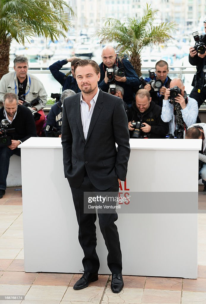 Actor <a gi-track='captionPersonalityLinkClicked' href=/galleries/search?phrase=Leonardo+DiCaprio&family=editorial&specificpeople=201635 ng-click='$event.stopPropagation()'>Leonardo DiCaprio</a> attends the photocall for 'The Great Gatsby' at the 66th Annual Cannes Film Festival at Palais des Festivals on May 15, 2013 in Cannes, France.
