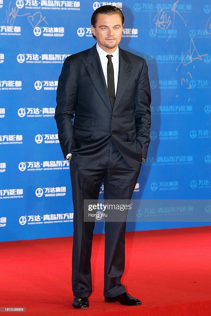 Actor Leonardo DiCaprio attends the red carpet show for the Qingdao Oriental Movie Metropolis on September 22, 2013 in Qingdao, China.